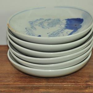 日本青花瓷碟一组(6个)