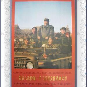 毛主席谢富治 八次检阅文革