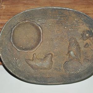 铸花铜砚台