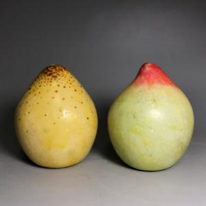 【好玩】民国老仿生石雕水果