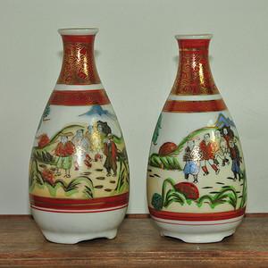 日本九谷酒壶两个