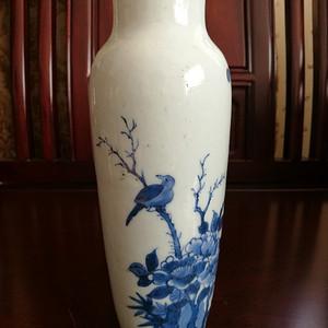 (联盟)明代花鸟青花筒瓶