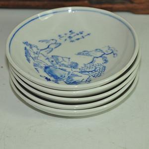 日本青花小瓷碟五个