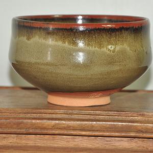 日本信乐英山窑茶碗