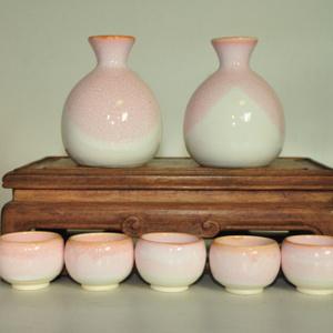 日本亮釉酒具一套