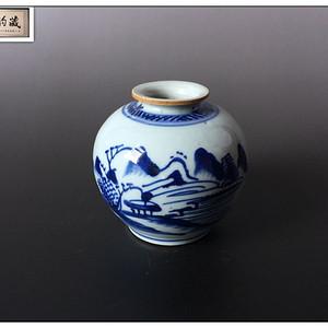 【素雅青花】清中期 青花文房小罐