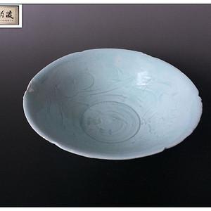 【宋瓷雅珍】宋 天蓝釉云花篦纹六缺大碗