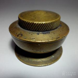 民国老铜墨盒!特色收藏【G#】!