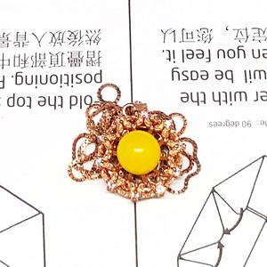 【珍品】3克欧洲旧货蜜蜡925银项链