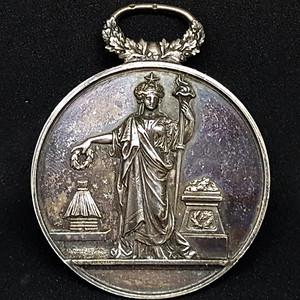 【包老保真】1894法国纯银奖牌