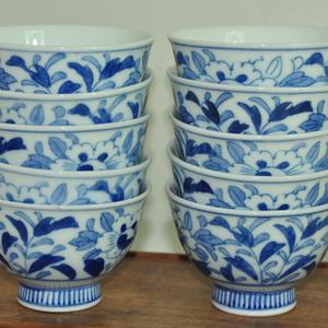 日本青花瓷碗一套(十个)