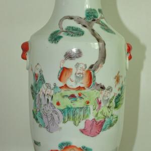 厂货粉彩瓷瓶