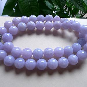 【金牌】天然A货翡翠老坑水润紫罗兰项链
