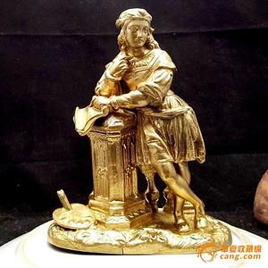 【精品】十九世纪法国鎏金人物像