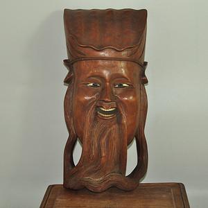 木雕脸谱挂件