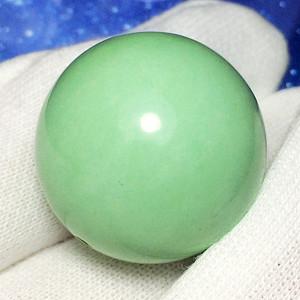 高瓷绿松石大美珠!18.51克超大24MM圆珠湖北绿松石完美大珠!