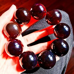 【压轴精品】极品巨无霸!28MM超大天然原矿缅甸珍贵紫罗兰琥珀圆珠手串