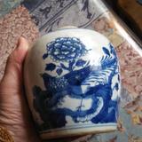 清~凤纹青花罐