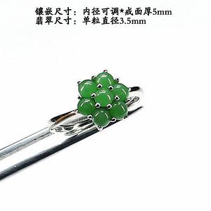 冰种阳绿翡翠耳饰·925银镶嵌--6727