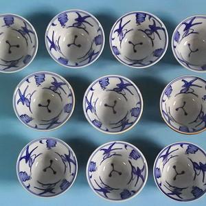 【金牌】旧货,10个双色釉青花金鱼杯(美全品)