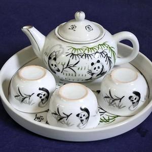 金牌 旧货,手绘 国宝 茶具一套 全品