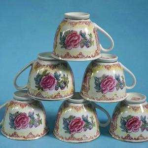 金牌 厂货,6个牡丹茶杯 美全品