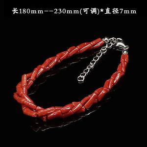 天然红珊瑚手链·925镶嵌--5177