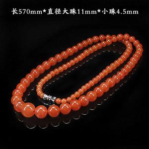 天然川料南红联合樱桃红塔式项链--0625