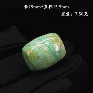 天然原矿绿松石桶珠--89806