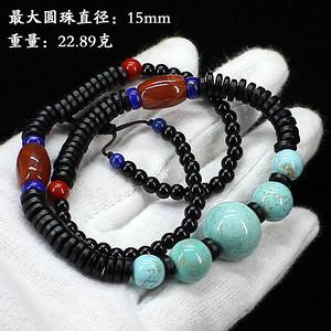 天然原矿绿松石项链--89802