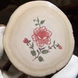 纯天然猛犸象牙乳牙精雕玫瑰花吊坠 支持任何检测