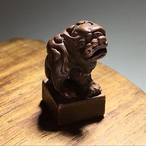 【金牌】铜制 柿子 地方官印 一枚 手工錾刻 包浆老厚