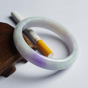 【金牌】紫罗兰翡翠平安手镯(56mm)-8HK07