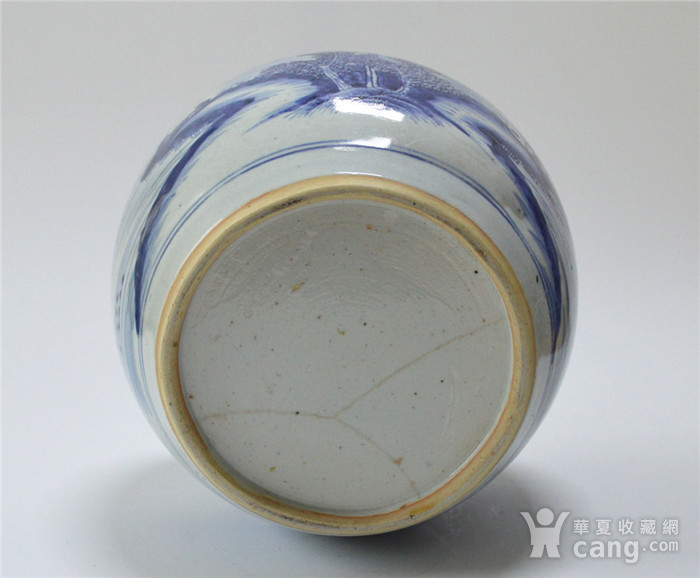 清早 青花通景山水人物罐图5
