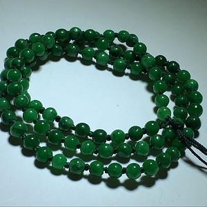 【联盟】 阳绿 翡翠 圆珠 链子 一条 颗颗颜色 漂亮