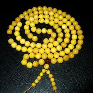 (联盟)原矿波罗的海蜜蜡108佛珠
