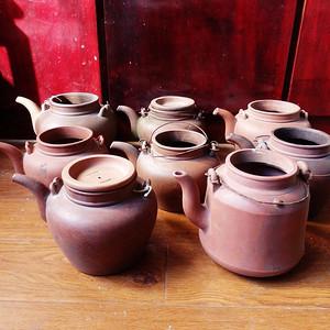 民国紫砂壶八把