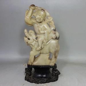 清代寿山石罗汉雕像