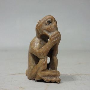 民国青田石石猴雕像