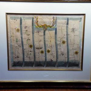 英国维多利亚时期航线图