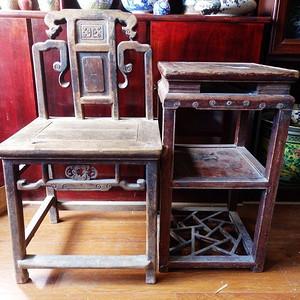 清代木质凳几一套