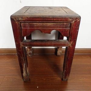清代木质方凳