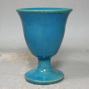 清代孔雀蓝釉酒杯