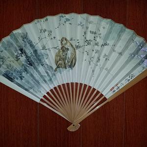 【联盟】苏州工笔花鸟画家:应竹鸣手绘相伴图,背面著名画家顾逸:题书法