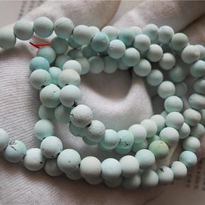白蓝松石圆珠项链