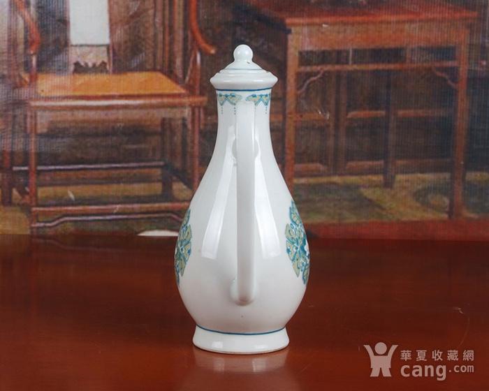 景德镇文革老厂瓷器 包老保真 红旗瓷厂釉中彩酒壶图5