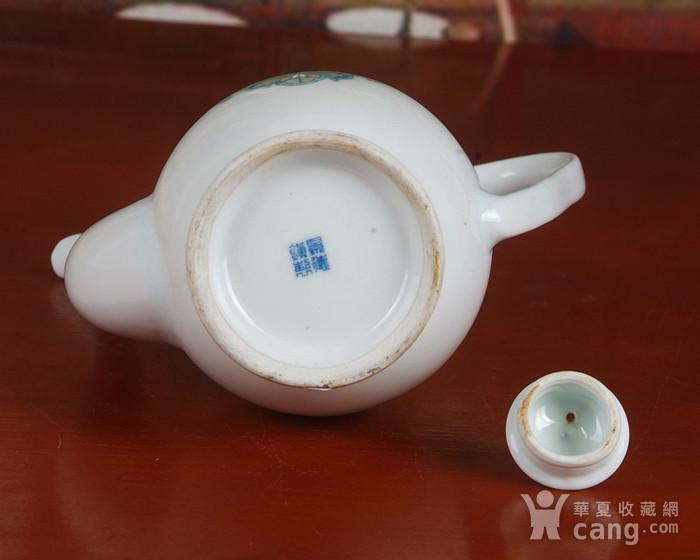 景德镇文革老厂瓷器 包老保真 红旗瓷厂釉中彩酒壶图8