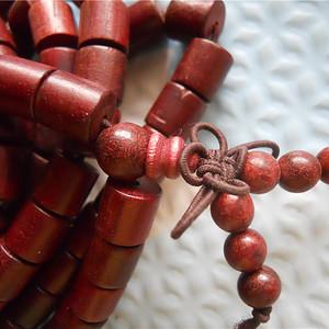 小叶紫檀桶珠项链