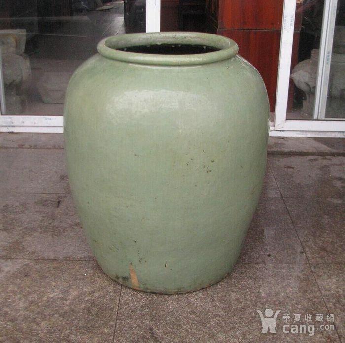 好品绿釉大缸