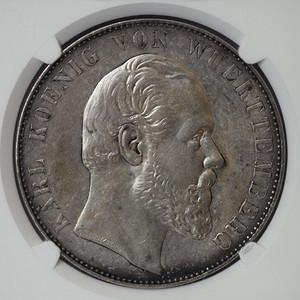 竞华堂出品 1869年德国乌尔姆大教堂2泰勒银币